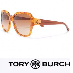 TORY BURCH Sunglasses Oversized Tortoise Shell New